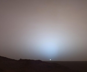 mars, sunset, and sun image