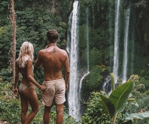couple, summer, and tropical image