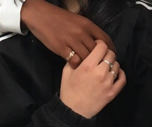 couple, aesthetic, and rings image