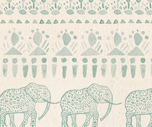 elephant, green, and vintage image
