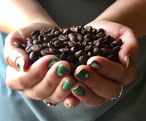 brown, coffee, and coffee beans image