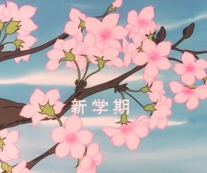 anime and cherry blossom image