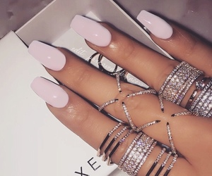 nails, women, and pink image