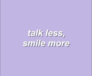 purple, quotes, and smile image