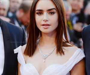 lily collins and cannes image