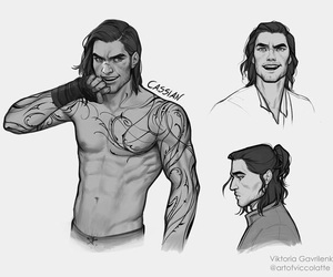 book, rhys, and feyre image