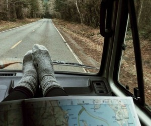 adventure, map, and Road Trip image