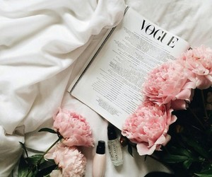 flowers, magazines, and peonies image