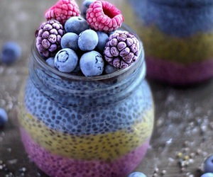 berries, blue, and pink image