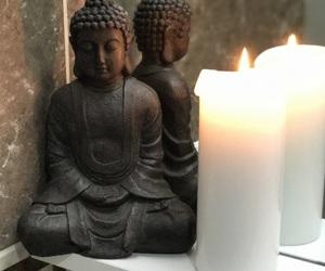 brown, Buddha, and candle image