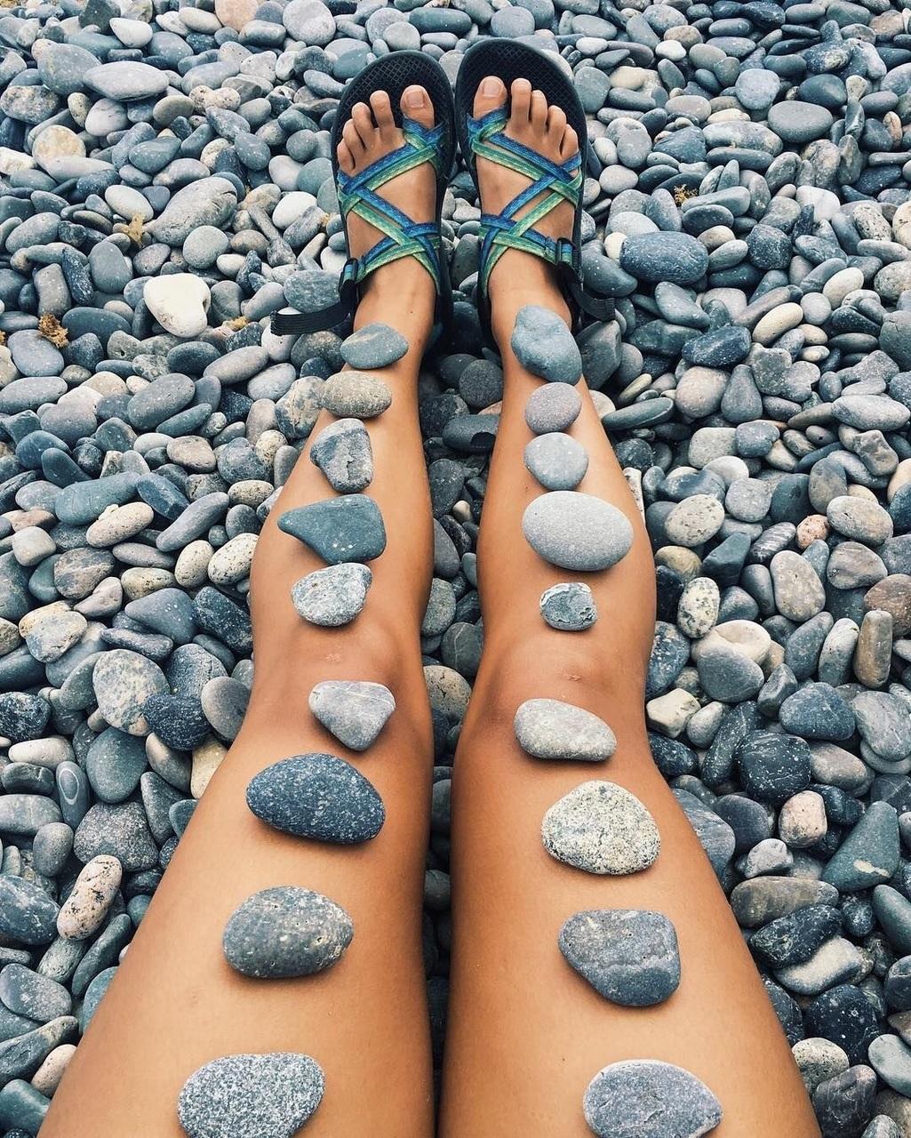 rocks and legs image