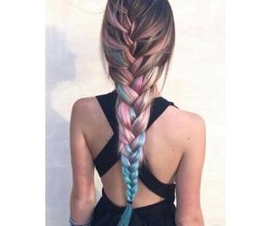 braid, hair, and braids image