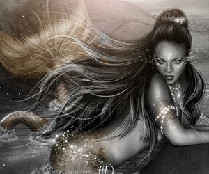 mermaid, rihanna, and rihanna art image