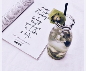 drink, food, and kiwi image