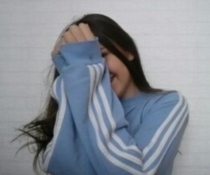 girl, adidas, and blue image