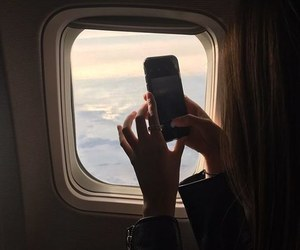 airplane, photography, and girl image