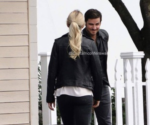 Jennifer Morrison, once upon a time, and captain swan image