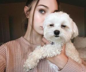 maddie ziegler, girl, and dog image