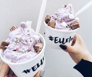 food, ice cream, and lilac image