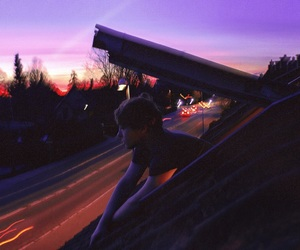 sunset, boy, and grunge image