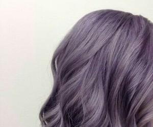 aesthetic, girl, and purple image