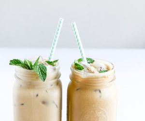 coffee, iced, and mint image
