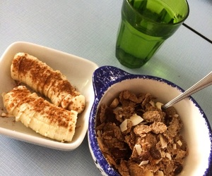 cannelle, banane, and healthy image