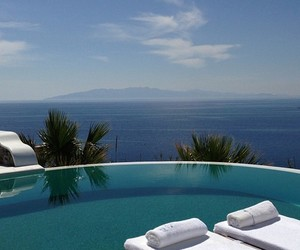 pool, luxury, and ocean image