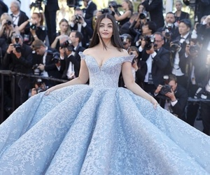 dress, blue, and cannes image
