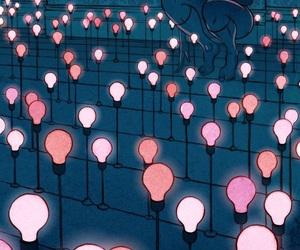 art, girls, and lights image