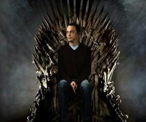 game of thrones, sheldon, and the big bang theory image