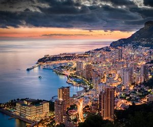 city, light, and monaco image