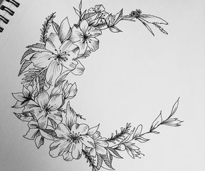 flowers, tattoo, and drawing image