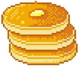 pancakes, pixel, and overlay image