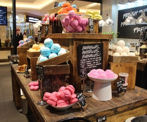 bath bombs, bubbles, and lush image