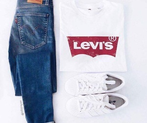 outfit, levi's, and adidas image