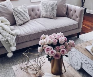 home, interior, and flowers image