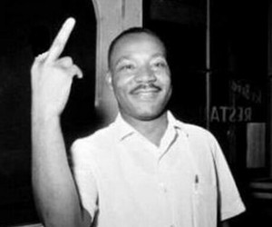 MLK, black and white, and martin luther king image