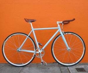 orange, aesthetic, and bicycle image