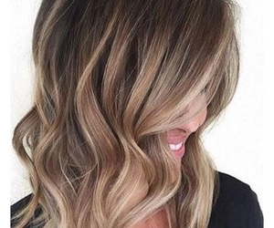brown, woman, and ombre image
