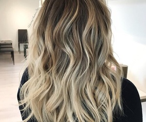 hair, ombre, and curly image