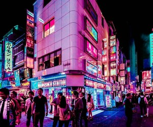 nighttime and tokyo image