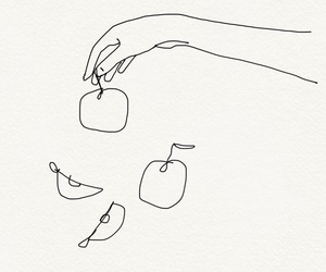 apple, simplistic, and linework image