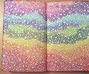 art, circles, and wreck this journal image