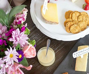 flowers and cheese board image