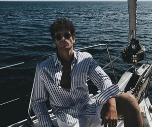 boat, Hot, and guy image