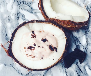 chocolate, coconut, and food image
