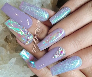 glitter, nail, and nail polish image