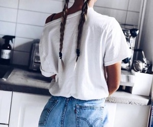 fashion, girl, and braid image