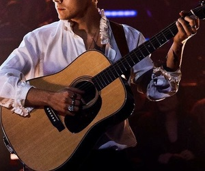 Harry Styles, guitar, and one direction image